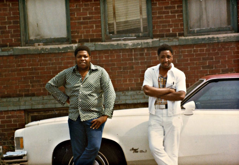 Eddie Jackson, left, and Courtney Brown grew up together in Paradise Valley. In the 1970s, they became two of Detroit's biggest heroin dealers.  Courtesy of Courtney Brown Jr..