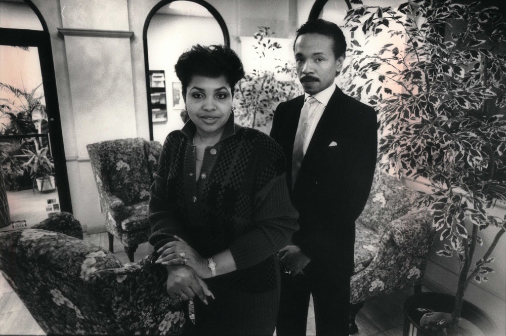 Dianne and Larry Mongo in the 1980s. Dianne was Coleman Young's barber, and she was widely regarded as his confidante. She could also pass messages from the mayor to her husband, who had connections in the streets. Courtesy of the Detroit Free Press.