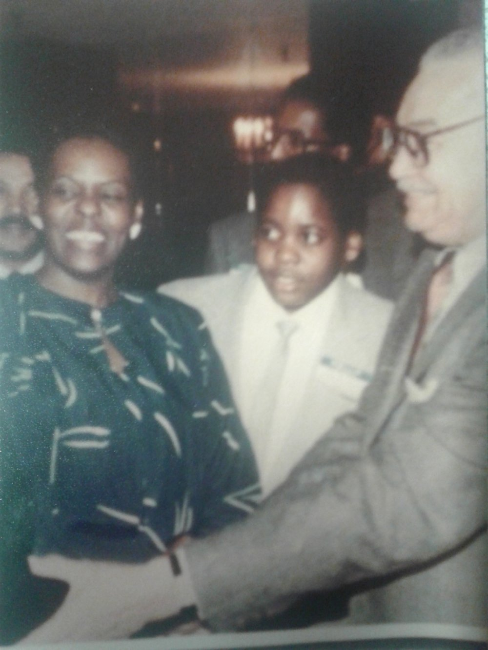 At age nine, after winning a black studies contest at school, Kwame met Coleman Young at the Manoogian Mansion, the official residence of the mayor of Detroit. It was there that Kwame first dreamt of one day becoming mayor.  Courtesy of Carolyn Kilpatrick.
