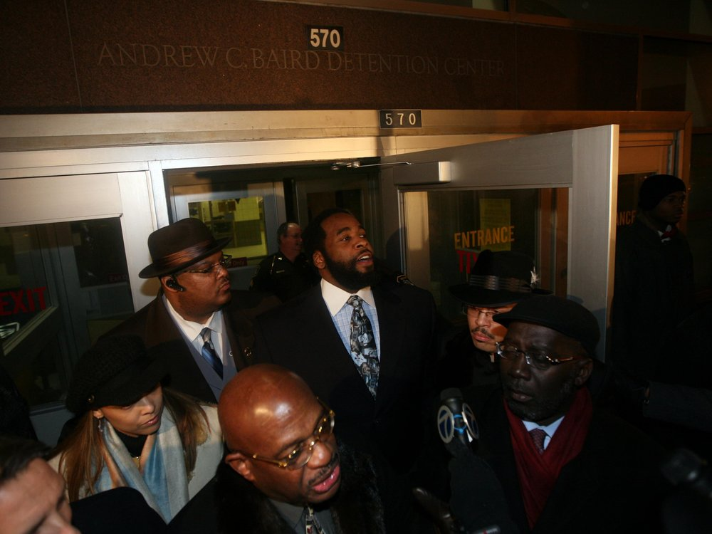 Kwame Kilpatrick was released in February 2009. He left for Dallas, Texas, where his family had relocated while he was behind bars.  Courtesy of the Detroit Free Press.