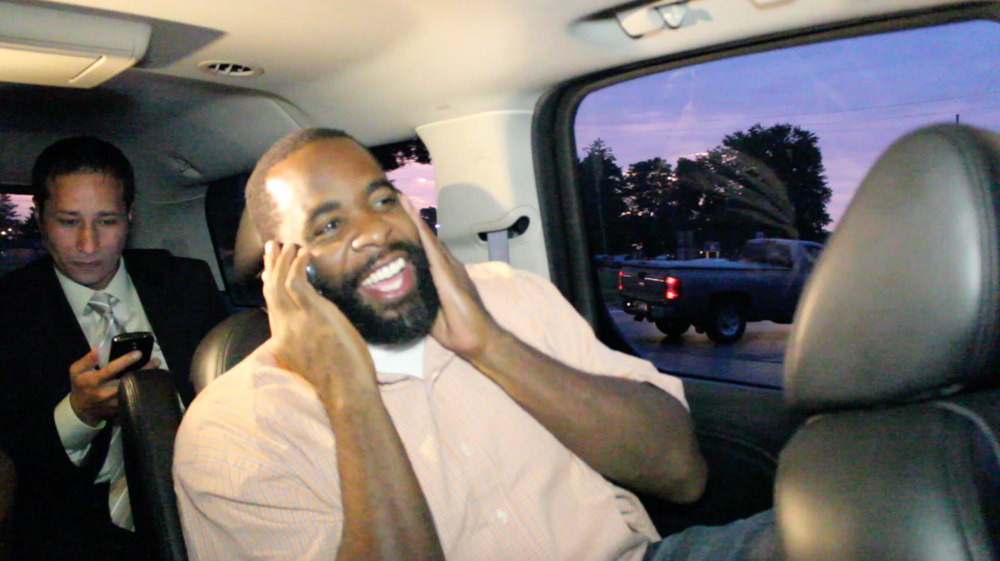 Kwame Kilpatrick was released from prison in the early hours of the morning to avoid media attention.  Courtesy of Tim and Tobias Smith.