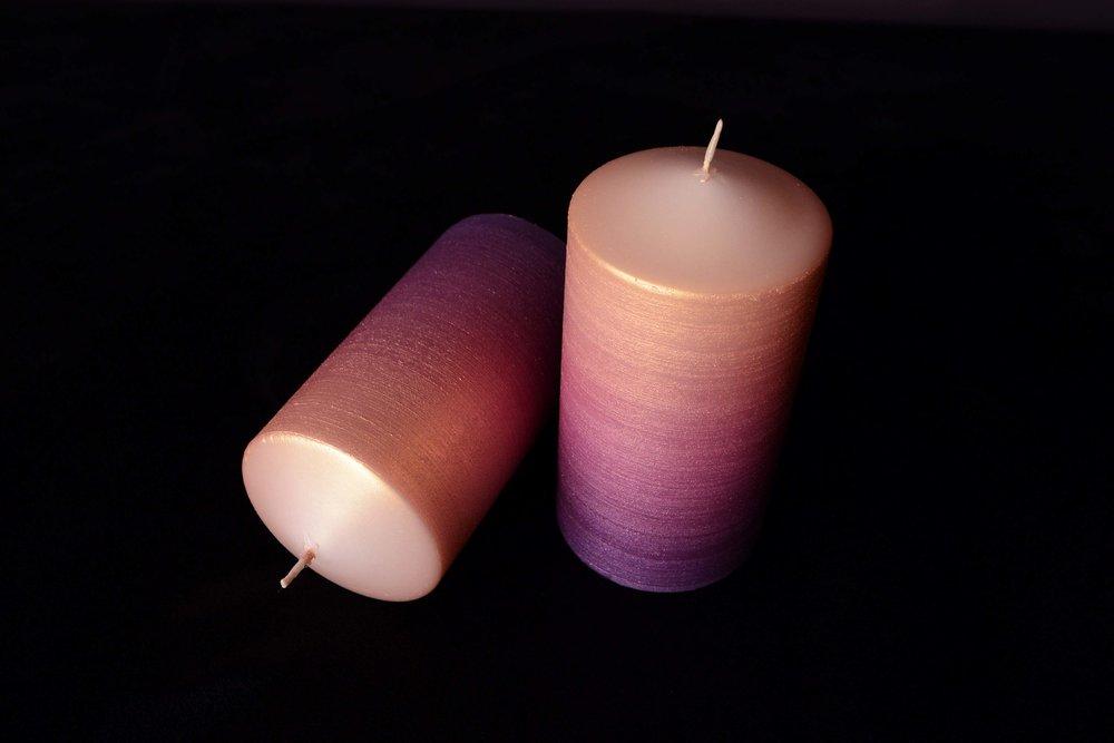 Sparkling Ombré Candles
