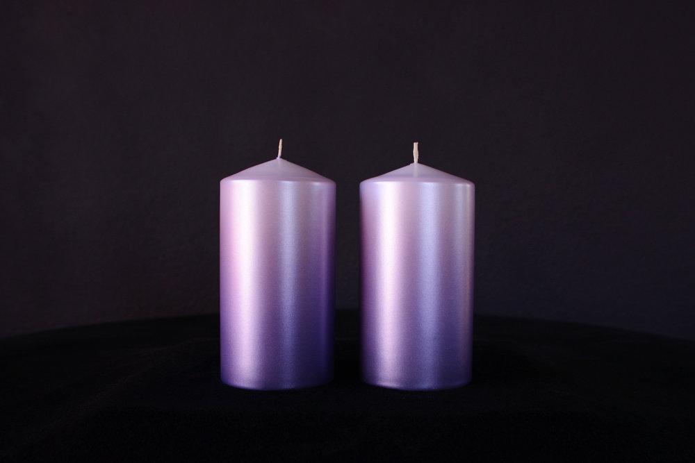 Ultra Violet Sparkling Crystal Candles