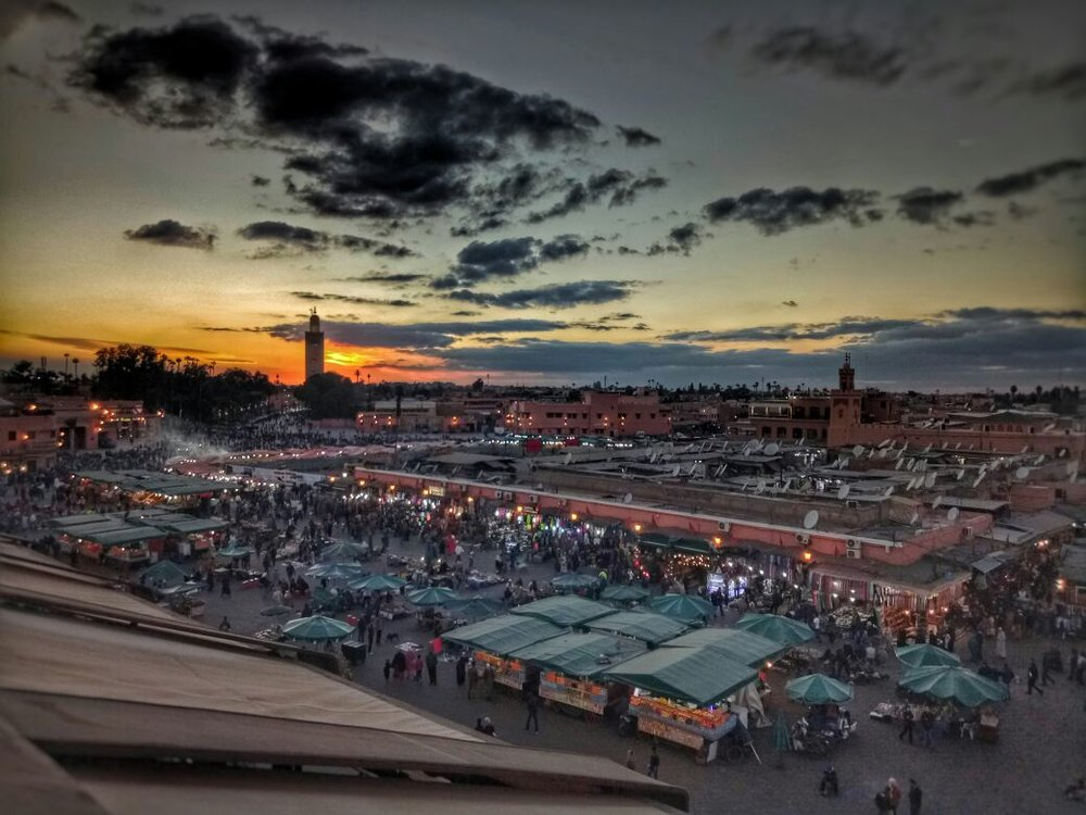 Marrakech - Start your trip in the Red City. Marrakech has everything to offer, including winding souks and alleyways of the ancient medina, fascinating gardens and architecture, bustling nightlife and mystery...all set against the backdrop of the High Atlas Mountains.