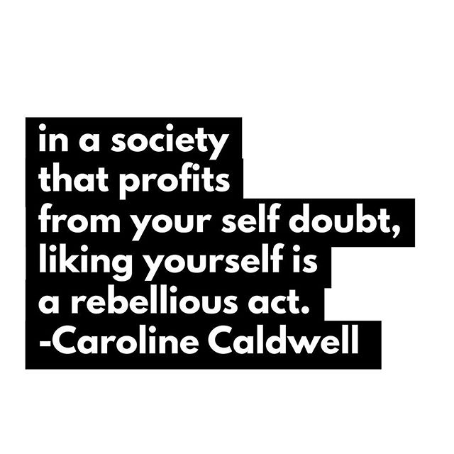 ☝️☝️ THIS. ☝️☝️A thousand times this. Lately, I've been thinking so much about how oppressive social forces show up in our psychological, internal, personal experiences of ourselves. There's so much in our society that makes us want to feel inferior and inadequate— because, you know, capitalism. Dollars are made off our internal feeling of not-enough-ness. 👏🏻SHUT 👏🏽THAT 👏🏾DOWN 👏🏿and know that you are gorgeously, gloriously ENOUGH without needing to buy or achieve or wear or earn or tone or do ANYTHING. Reclaim yourself FOR yourself. 💪🏼