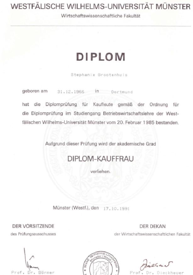 Einstieg ins Berufsleben mit dem BWL-Diplom einer der besten Universitäten dafür in Deutschland.
