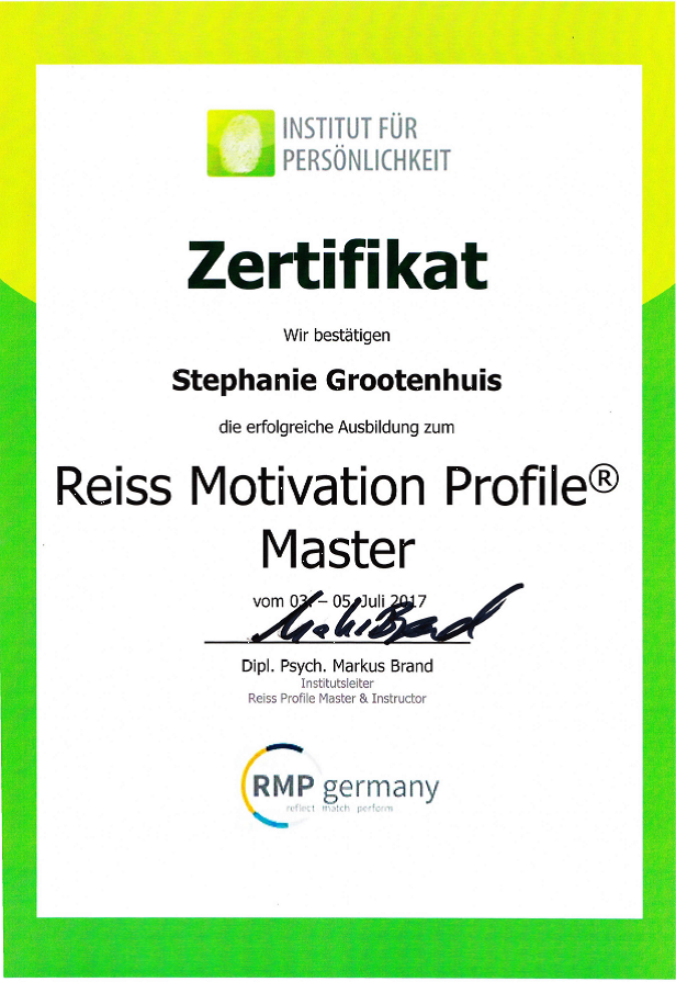 REISS Motivation Profile Master https://www.rmp-germany.com/