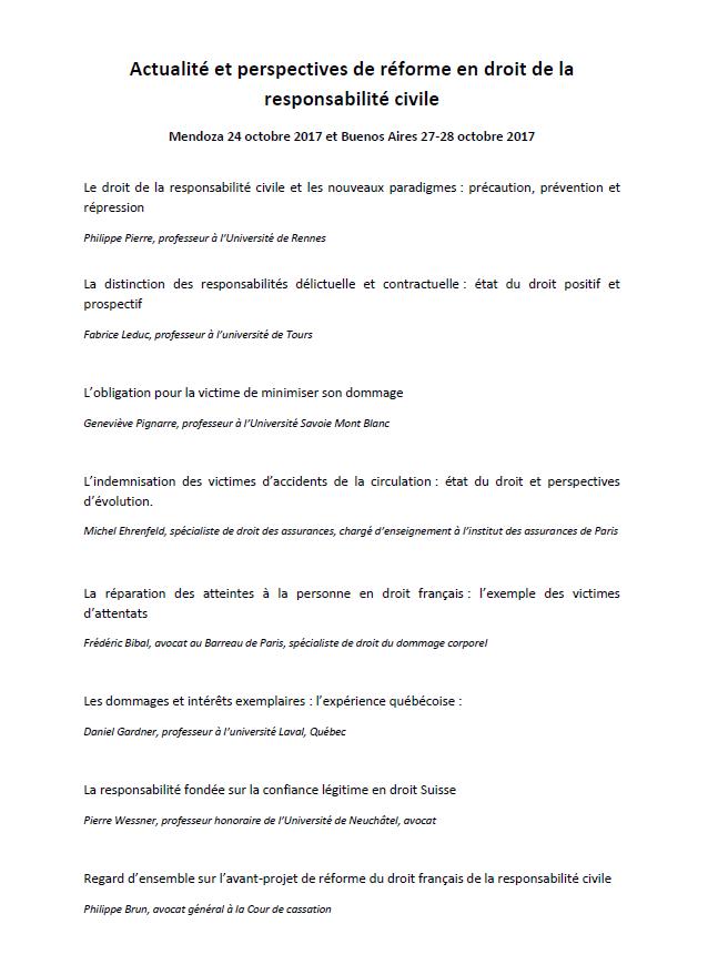 Actualite Et Perspectives De Reforme En Droit De La Responsabilite