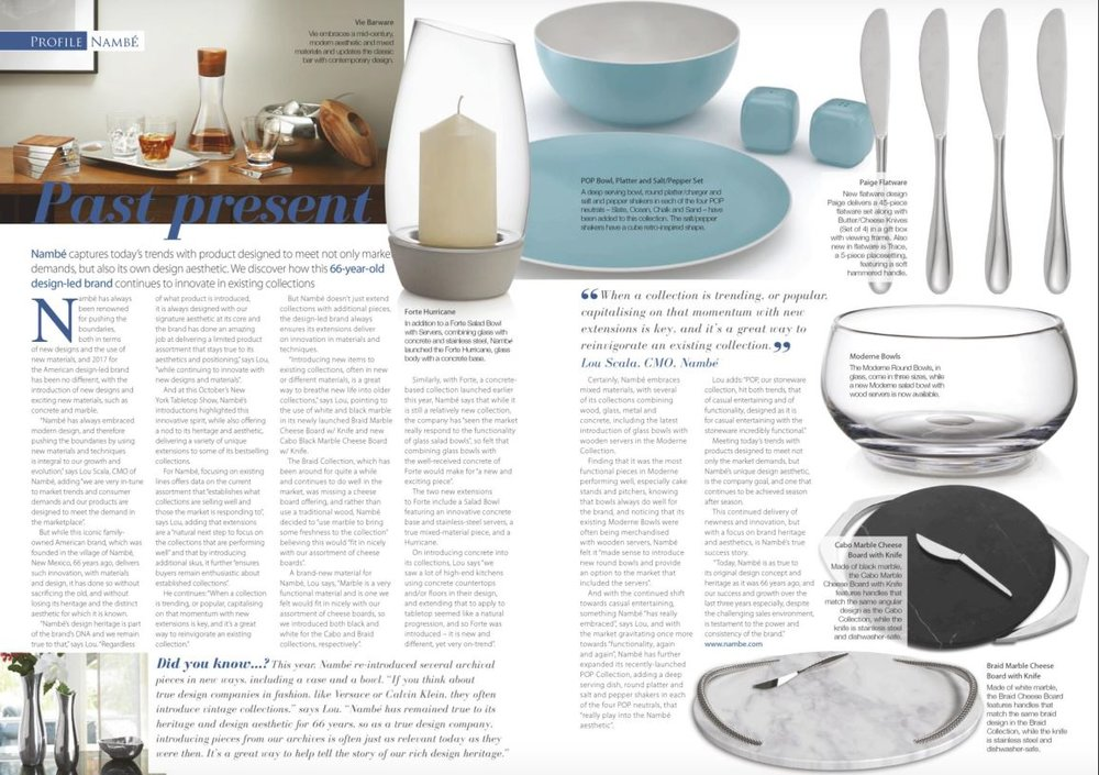 Tableware_International_Article.JPG & Our design on the cover of the December issue of Tableware ...