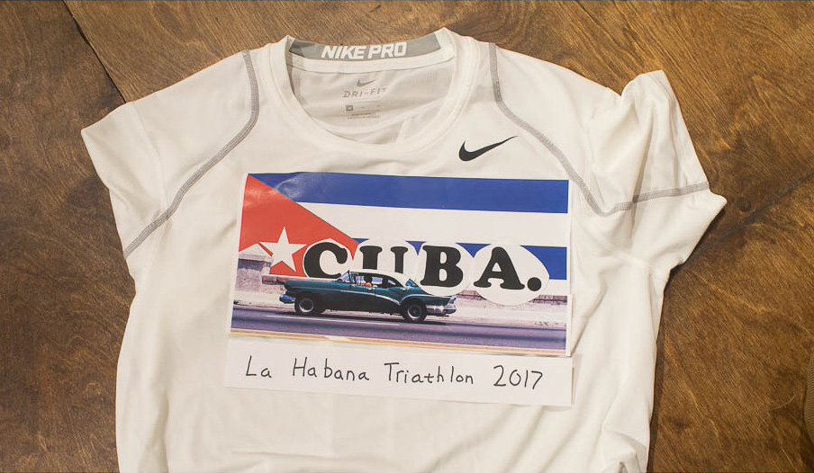 The unofficial, official La Habana Triathlon shirt (before screenprinting)