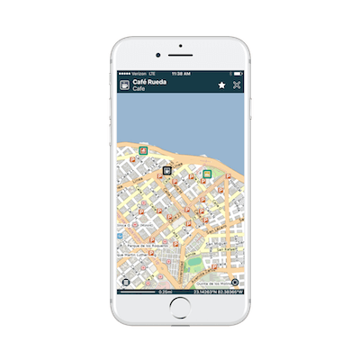 Pocket Earth (pro) is an offline map that can show your location without cell service.