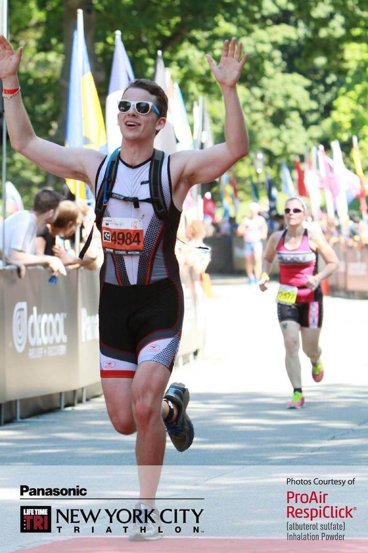 At the age of 25, I finished the NYC Triathlon amid 90+ degree heat