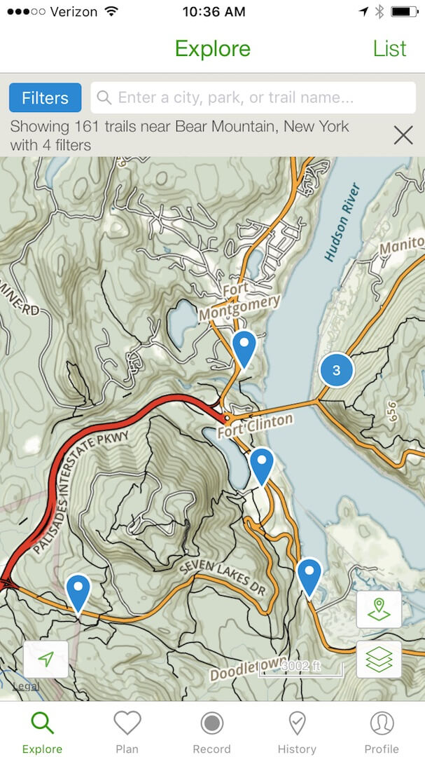 An overview of Bear Mountain and the trails available to hike