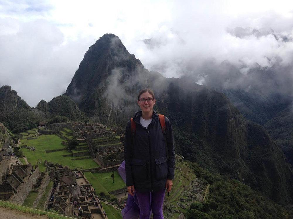 Amy McKinnon captures the 'must-do' tourist shot at Machu Picchu