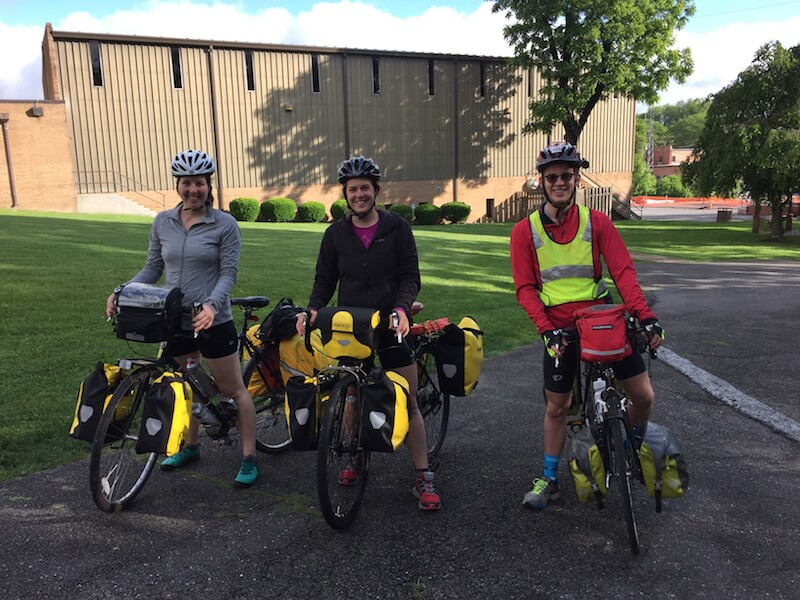(Left to right) Annalisa, Taylor, and Erik are bicycling across America to prove that people with type 1 diabetes can achieve anything
