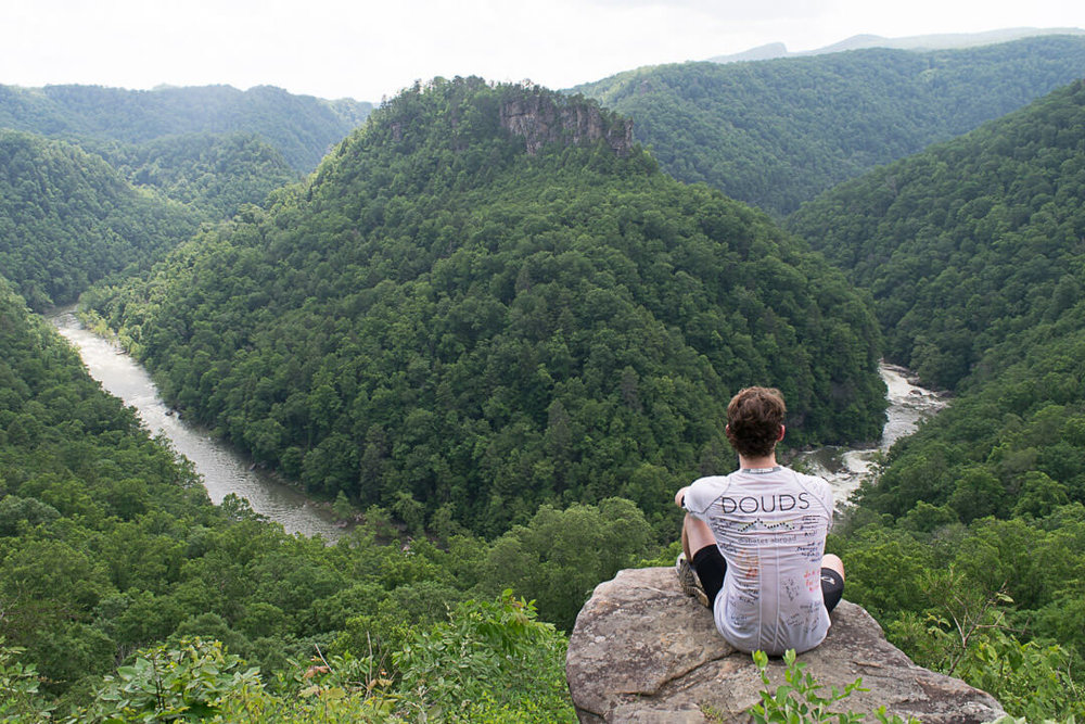 The lookout of Breaks Interstate Park along the border of Virginia and Kentucky