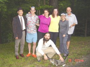 From left to right: David, Erik,T, Annalisa, Donna, Doug Front: Scavenger + Edgar the cat