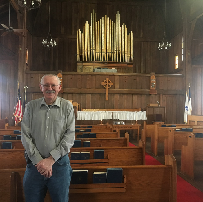 "Tom Burns gives any cyclist or nomad his famous ""nickel tour"" of the Buckhorn Presbyterian Church"