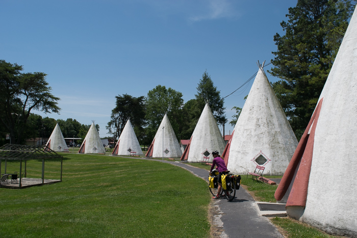 "Staying in an electric air conditioned wigwam is one ""attraction"" before the national park"