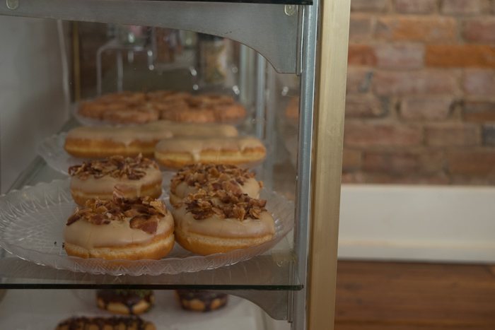 Fresh pastries at the Playbill cafe located on the first floor of the opera house in Greenfield