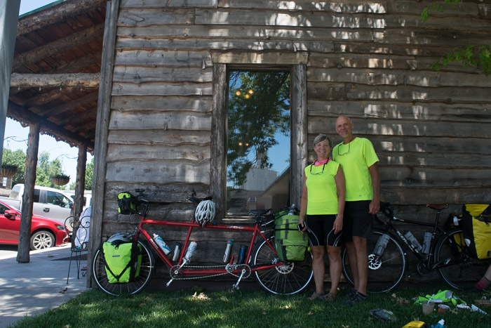 Judy and Eric are riding across America on a tandem bicycle