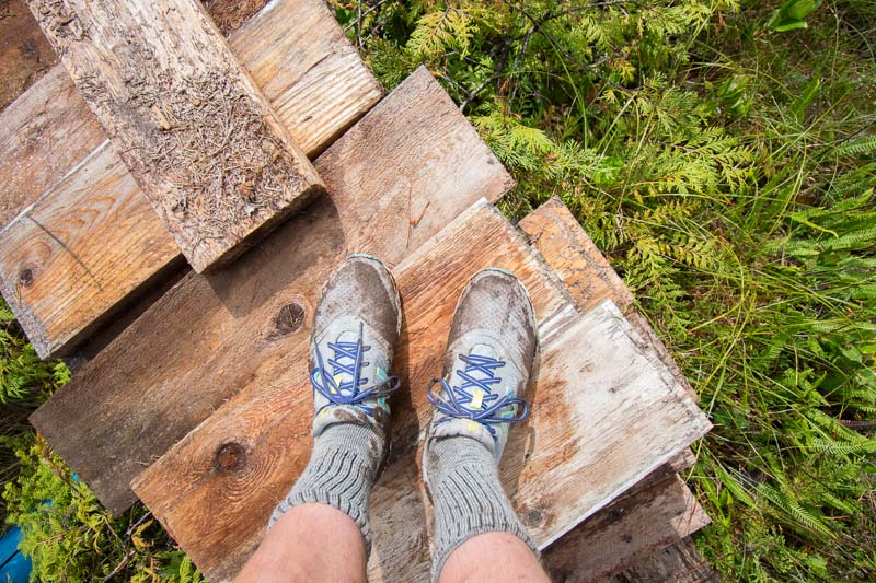 "The ""N"" stands for North Coast Trail shoes"
