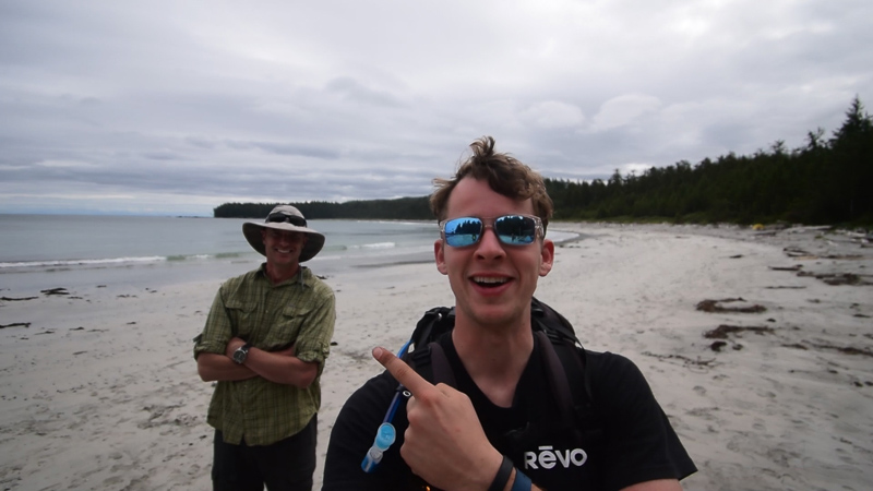 Doing a little bit of advocacy work on the beach (Shop the look: Revo Crawler sunglasses)