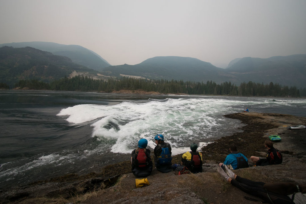 A few hours ago the waters at Skookumchuck Narrows were perfectly calm.