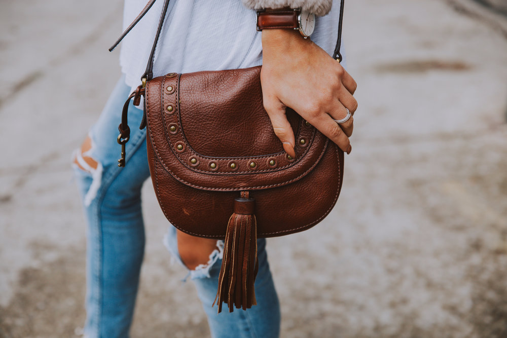 Emi Saddle Bag - Fossil