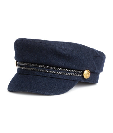 H&M Captain's Cap- Dark Blue