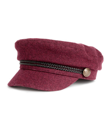 H&M Captain's Cap- Burgundy