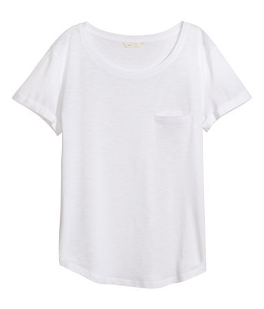 2.Basic White Tee - The Go-To