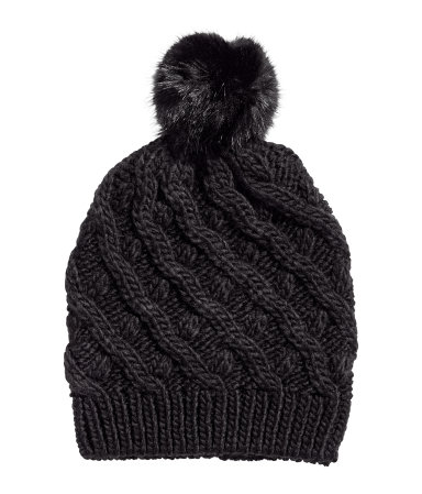 5. Finish with a hat - Pom pom beanie for colder months.