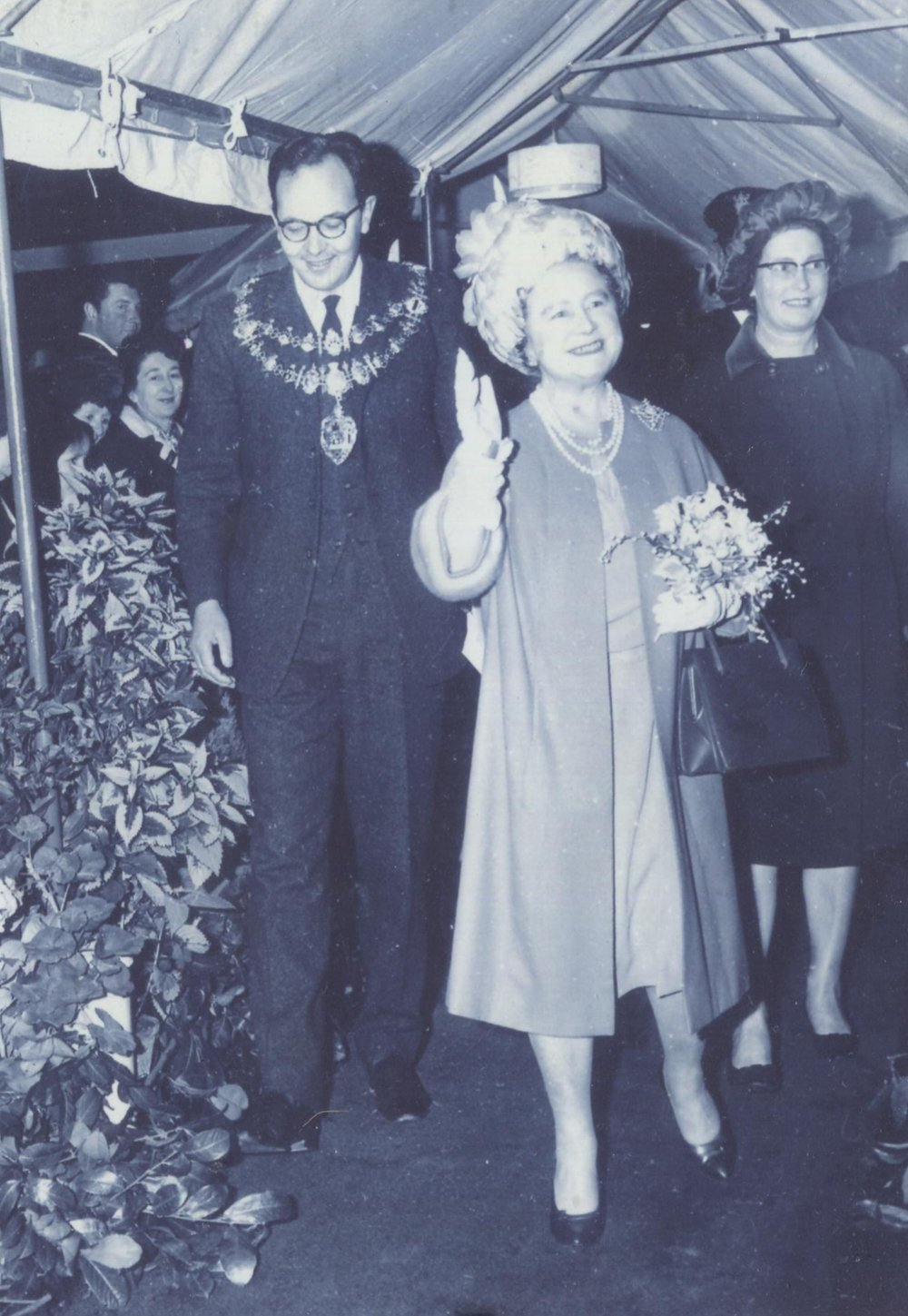 The Queen Mother opening the centre in November 1967