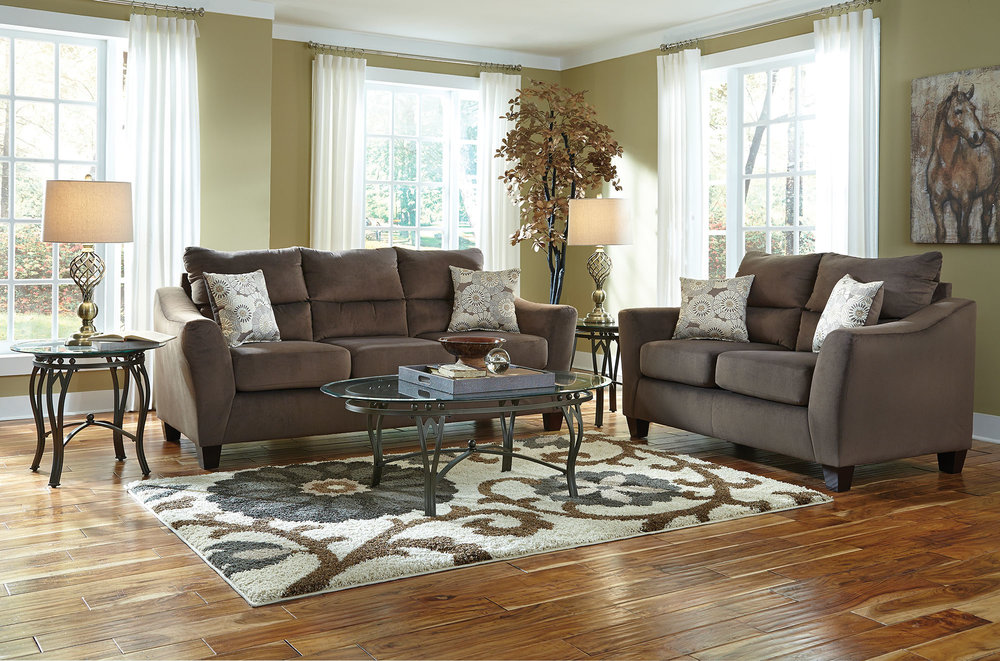 Central Park 8 Piece Living Room Group With Rug Woodhaven