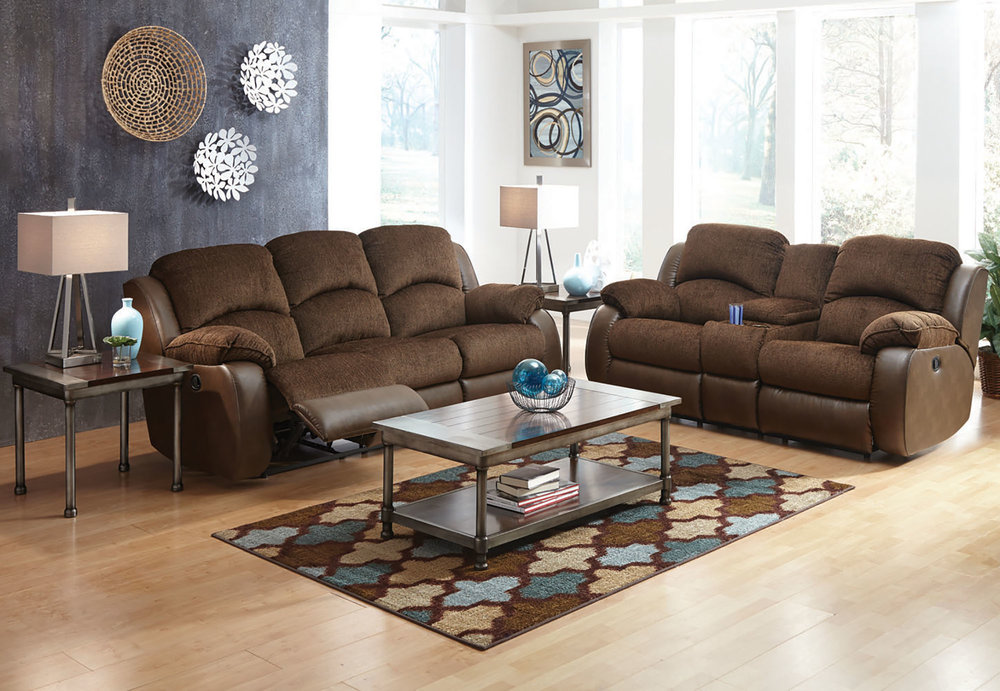 Parker 7 Piece Motion Living Room Group In Brown