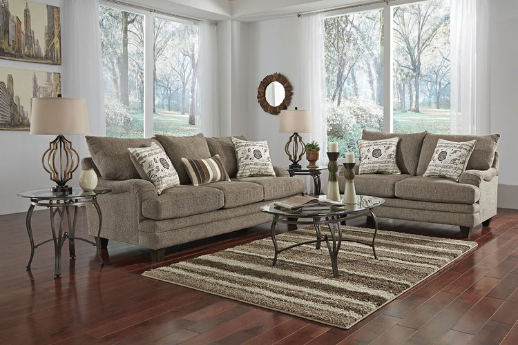 Mello 7-Piece Living Room Group in Beige — Woodhaven