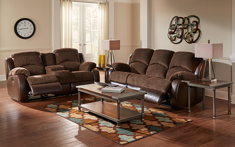 Memphis 2 piece reclining living room collection woodhaven - Woodhaven living room furniture collection ...