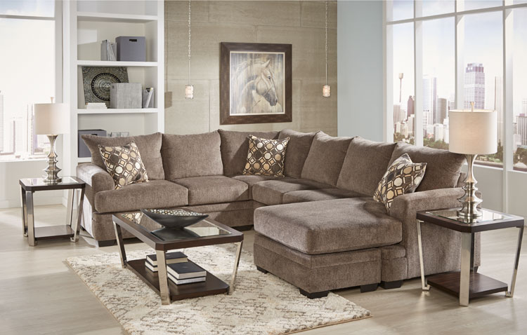 Captivating Kimberly Living Room Collection Sectional