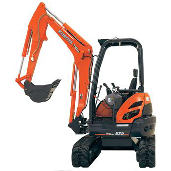 U25 COMPACT EXCAVATOR  Gross Power: 20.9 hp Operating Weight: 5,625 lbs              View Specifications