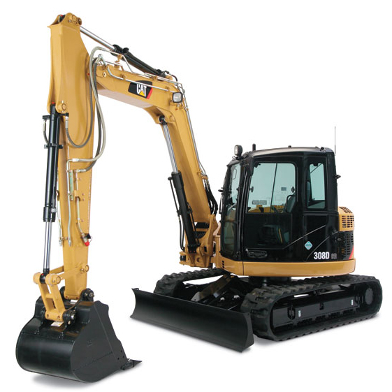 CAT 308E CR   SB HYDRAULIC EXCAVATOR  Gross Power: 65 hp Operating Weight: 18,500 lbs              View Specifications