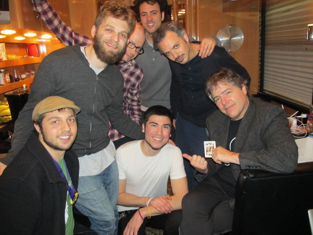 With Bela Fleck and Brooklyn Rider Quartet.JPG