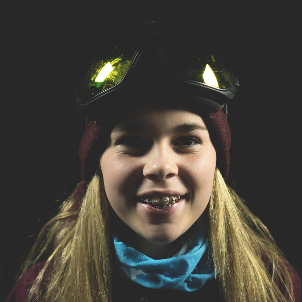 Katie Turnbull Years snowboarding- 6 yrs Stance- goofy Hometown- fort McMurray Birthday-  November 30th 14 (almost 15) Fun fact- I'm really bad at bowling Favourite mountain destination- Revelstoke Instagram- @katieeturnbull Favourite trick- Method Favourite rider- Mark Mcmoris Favourite edit- Park City-shred bots