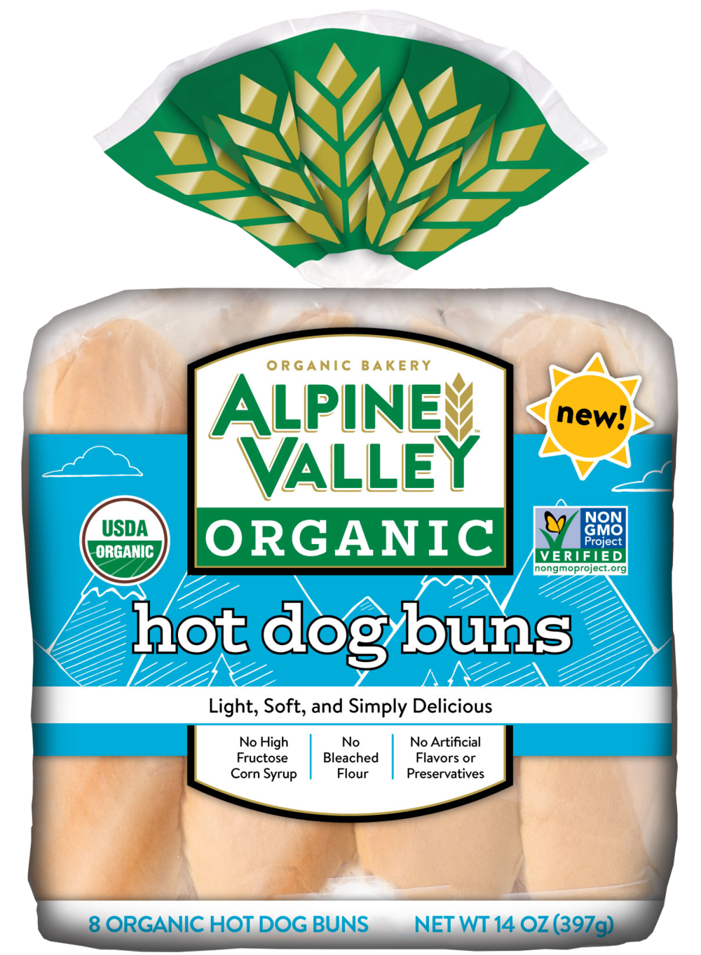 Alpine Valley Bread - Hot Dog Bun - Front.png