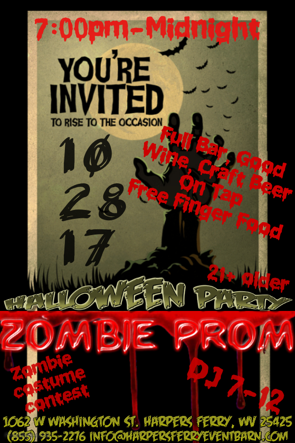 Copy of Graveyard Haunted House Zombie Tombstone Halloween Party Event Horror Invite Flyer.jpg