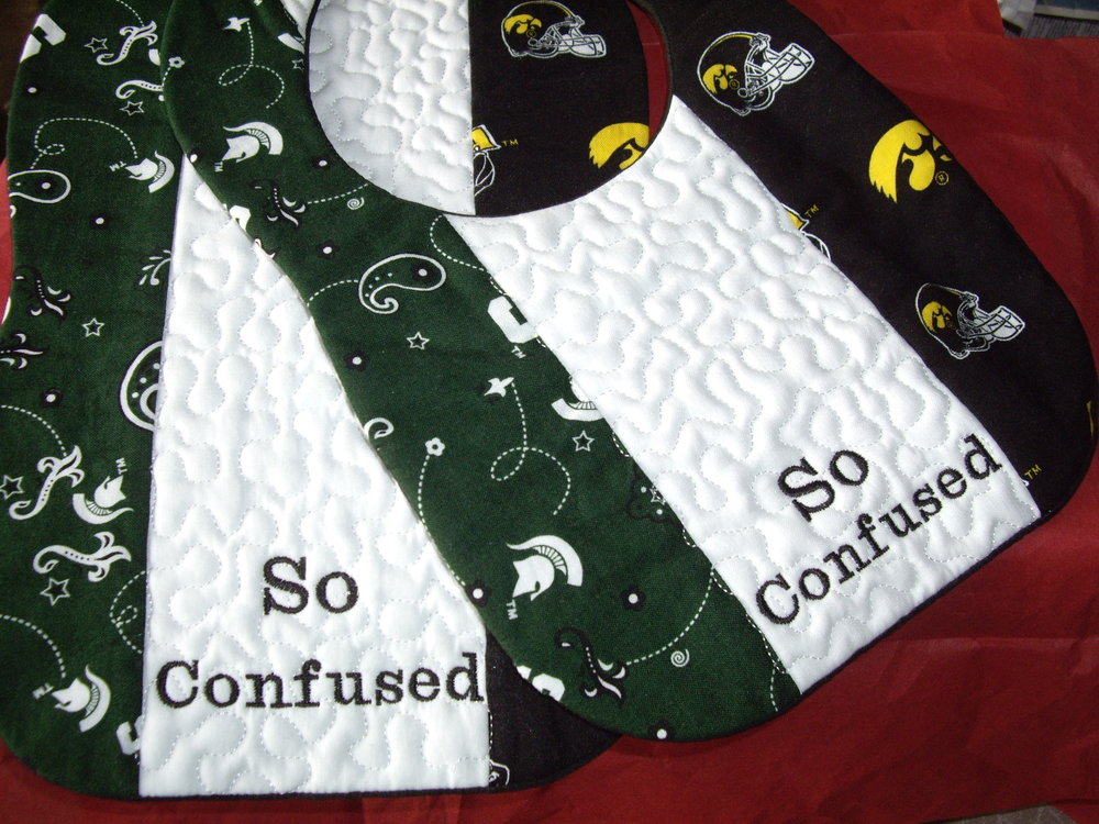 Custom Collegiate House Divided Bib n Burp Cloth.jpg
