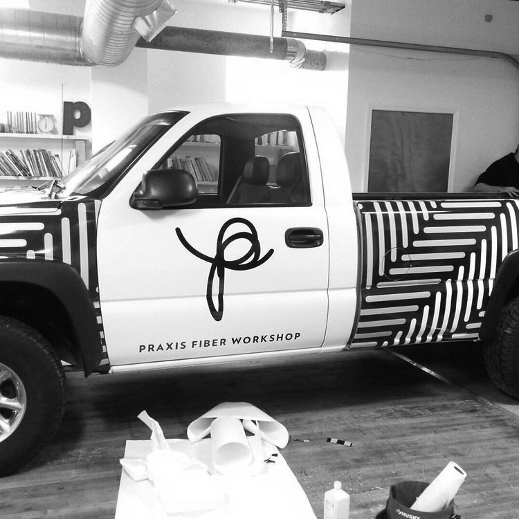 Agnes Studio Praxis Fiber Workshop truck wrap