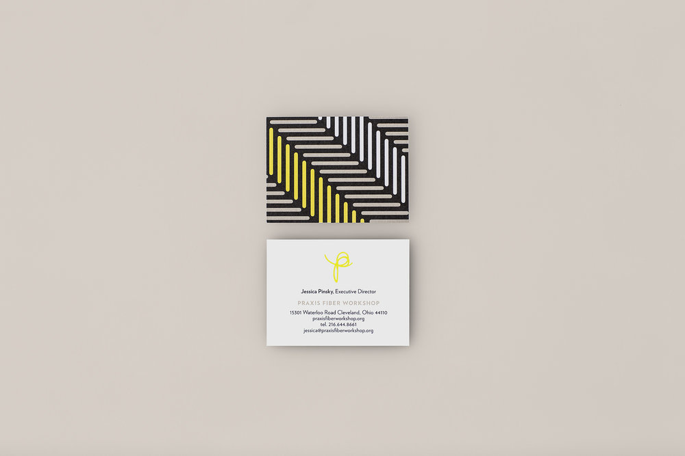 Agnes Studio Praxis Fiber Workshop business card