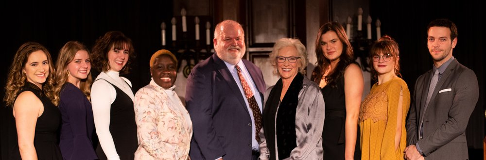 Scholarship awardees with Betty Buckley and Marty Balogh