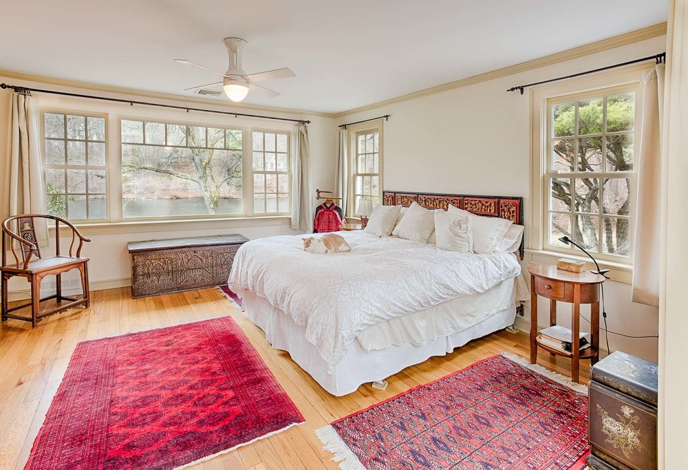 bedroom of a home for sale in tarrytown ny
